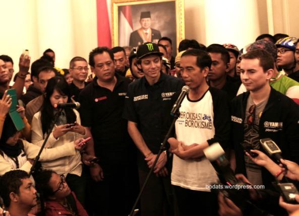 Jokowi, Rossi & Lorenzo