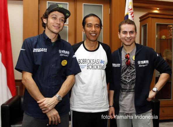 Rossi, Jokowi & Lorenzo