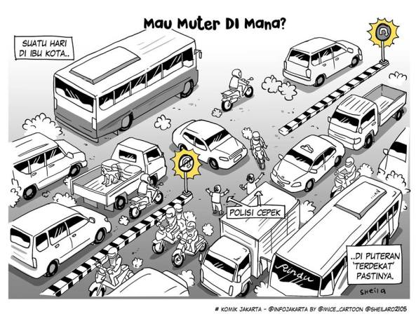 Karya Mice dan Lala di serial komik Jakarta.