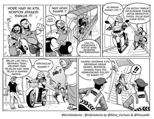 Karya Gee, Mice & Lala di serial Komik Jakarta