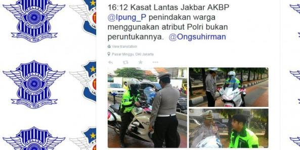 Polisi Menangkap Pengendara
